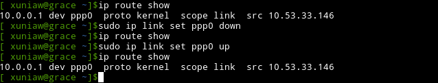 ip link set up and down