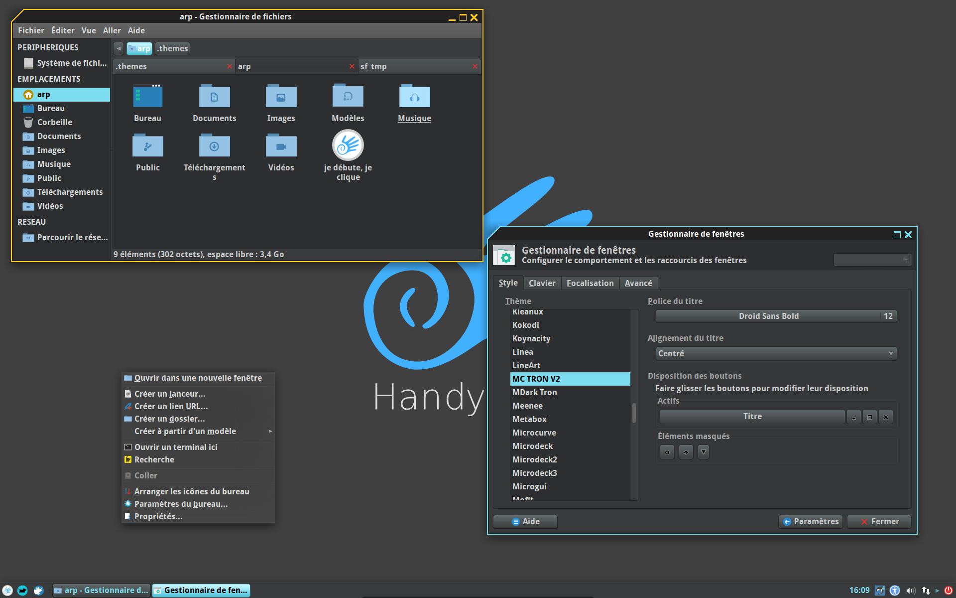 5 发布了,handylinux是面向linux新手设计的法语发行.